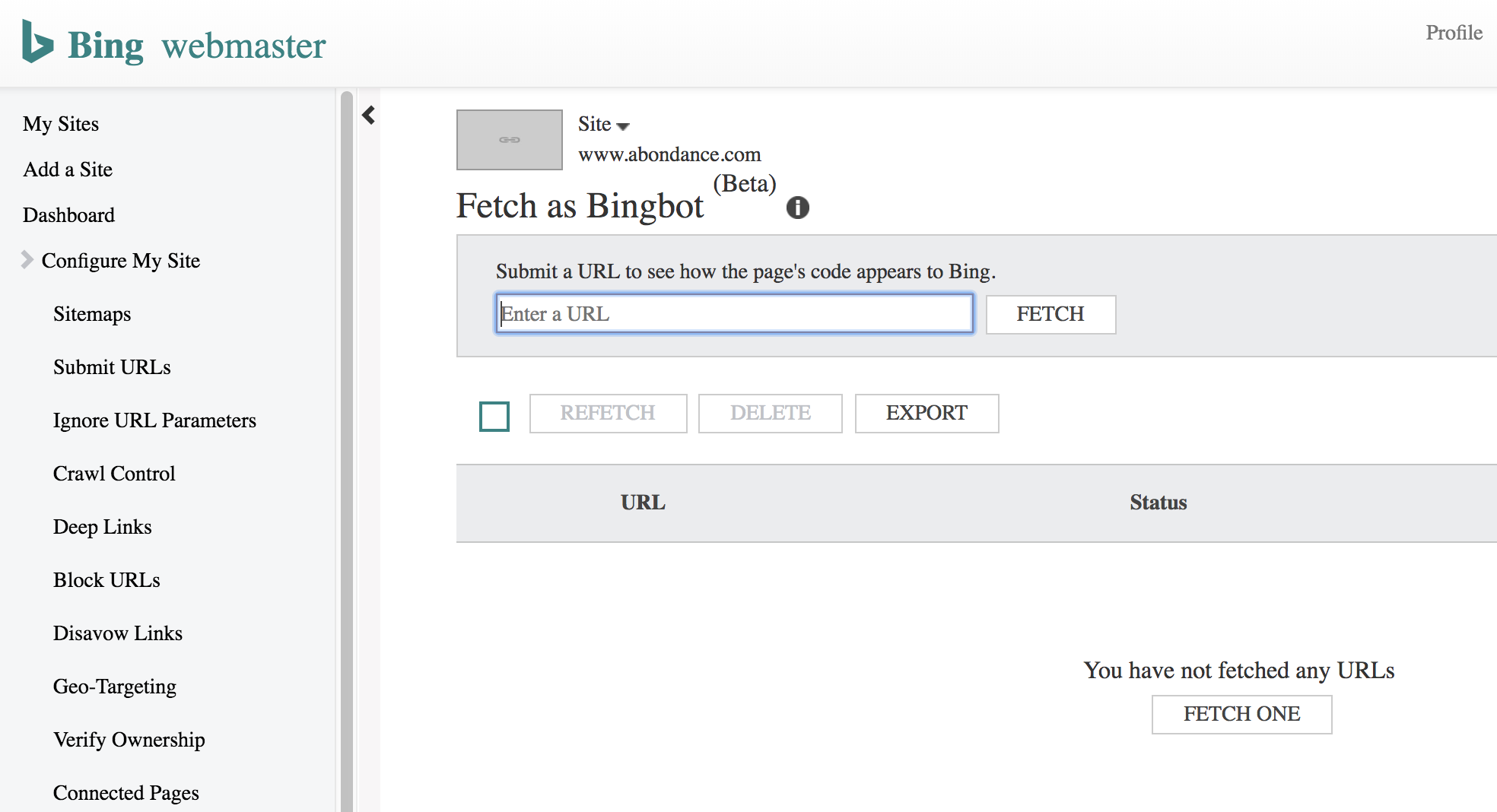 bingbot-webmaster-tools